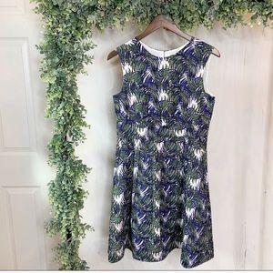 MODCLOTH Emily & Finn Palm Leaf Lucy Dress